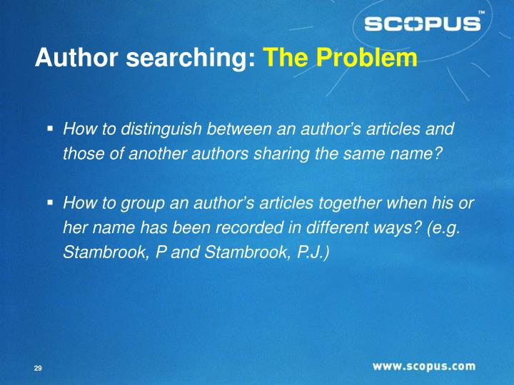 Author searching: