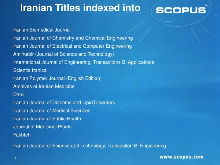 Iranian Titles indexed into