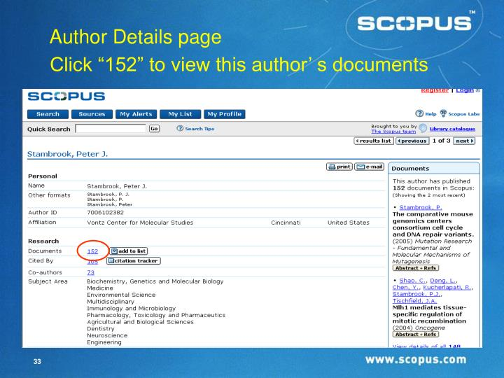 """Click """"152"""" to view this author' s documents"""