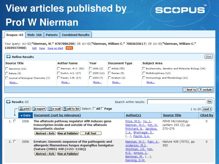 View articles published by