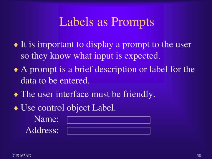 Labels as Prompts