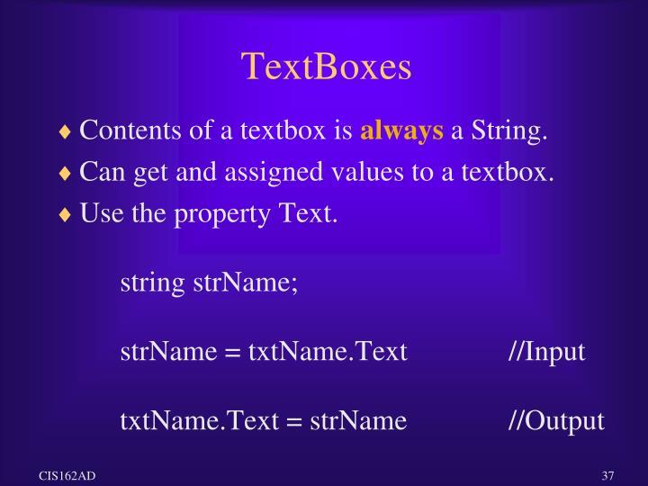 TextBoxes