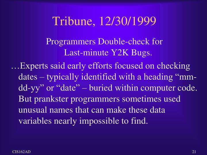 Tribune, 12/30/1999