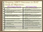 mapping abet outcomes to isat goals objectives