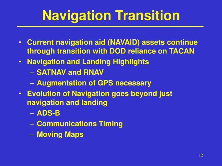 Navigation Transition