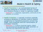modern health safety