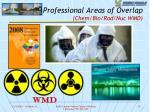 professional areas of overlap chem bio rad nuc wmd