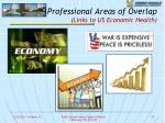 professional areas of overlap links to us economic health