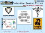 professional areas of overlap public health pandemic