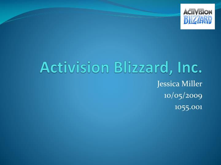 PPT - Activision Blizzard, Inc  PowerPoint Presentation - ID