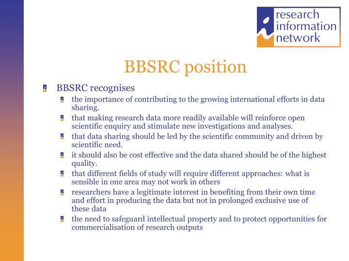 BBSRC position