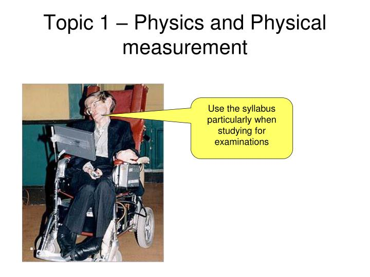 topic 1 physics and physical measurement n.