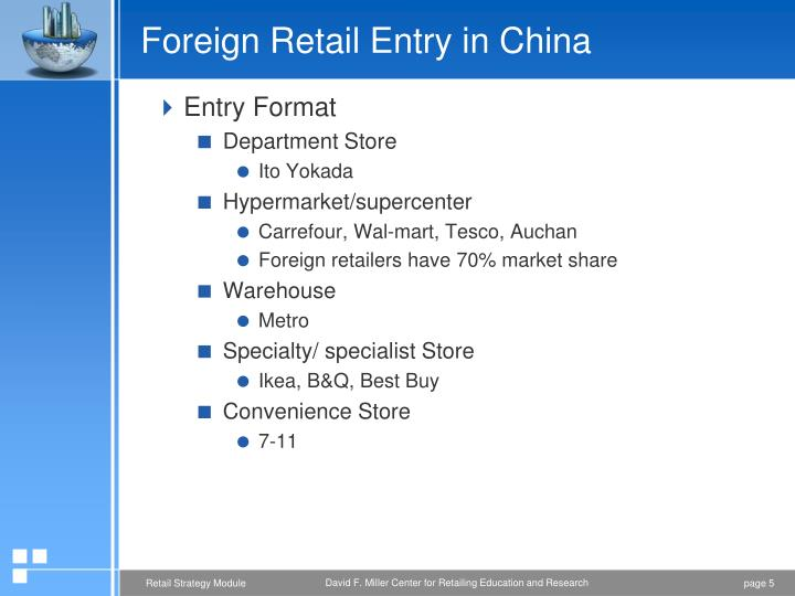 Market entry mode of tesco