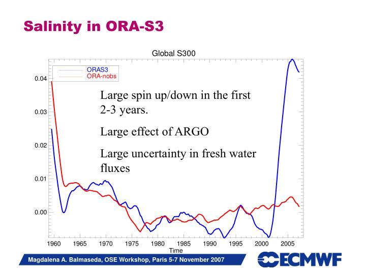 Salinity in ORA-S3