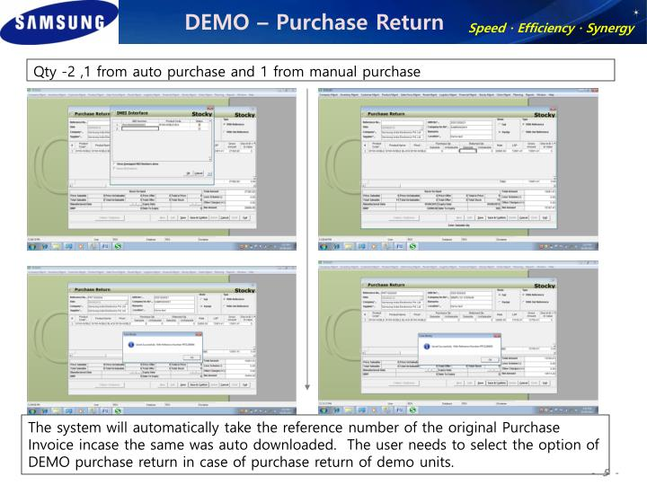 DEMO – Purchase Return