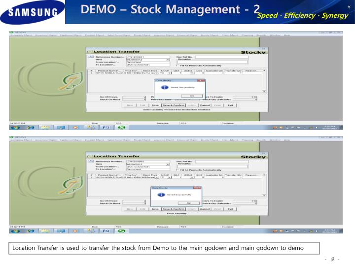 DEMO – Stock Management - 2
