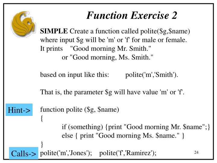 Function Exercise 2