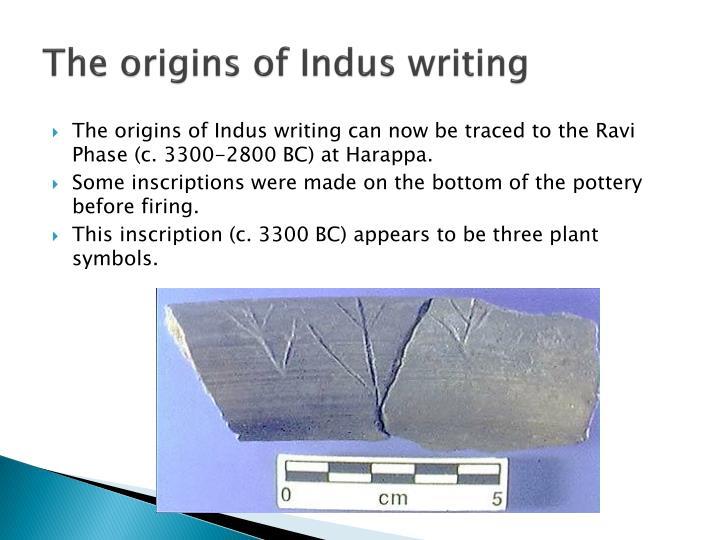 The origins of Indus writing