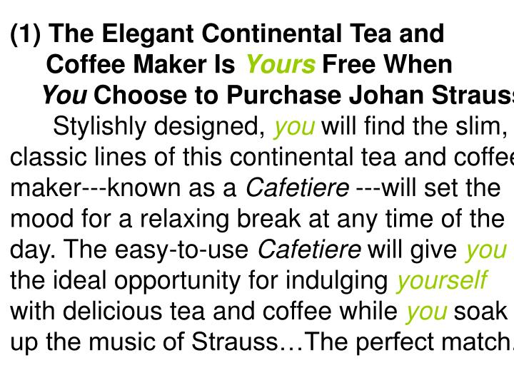 The Elegant Continental Tea and