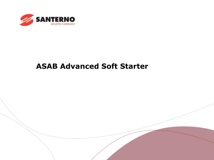 asab advanced soft starter n.
