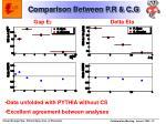 comparison between p r c g