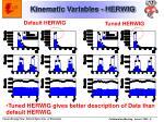 kinematic variables herwig