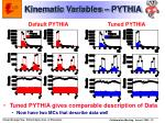 kinematic variables pythia