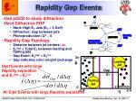 rapidity gap events