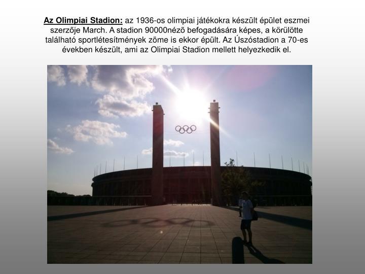 Az Olimpiai Stadion: