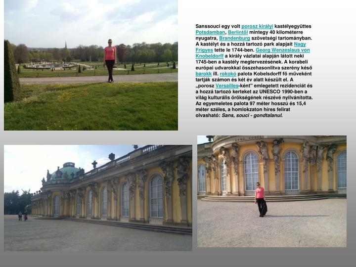 Sanssouci egy volt