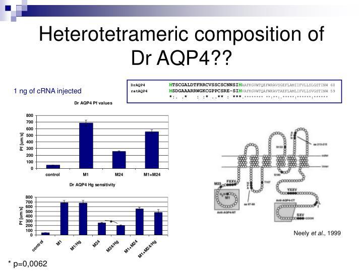 Heterotetrameric composition of