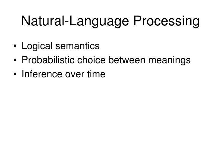 Natural-Language Processing