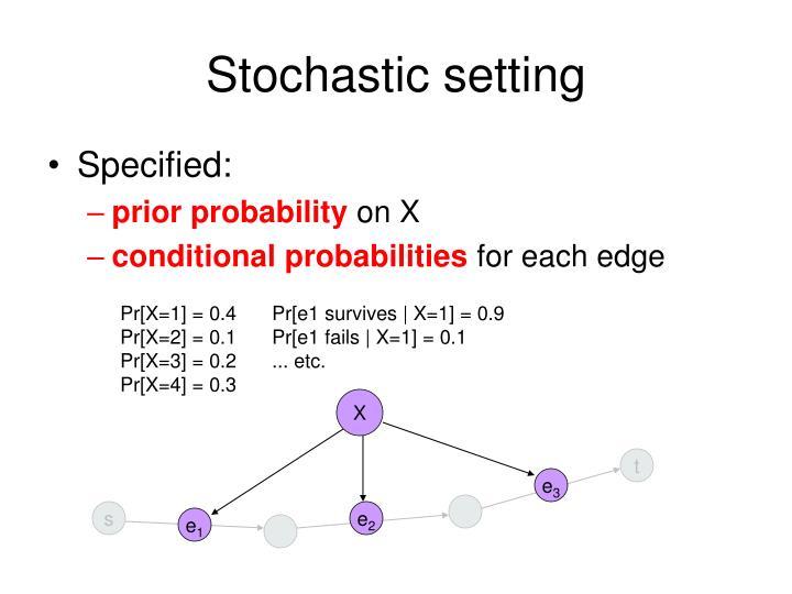 Stochastic setting