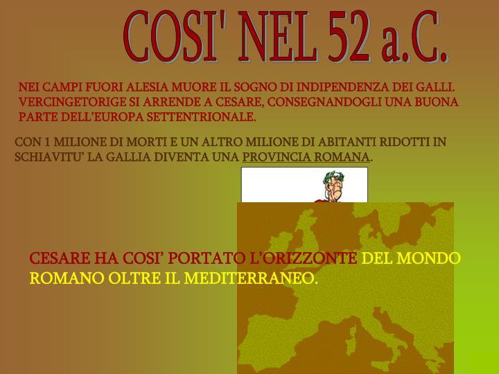 COSI' NEL 52 a.C.