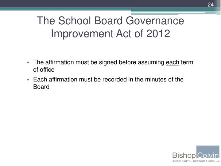 The School Board Governance