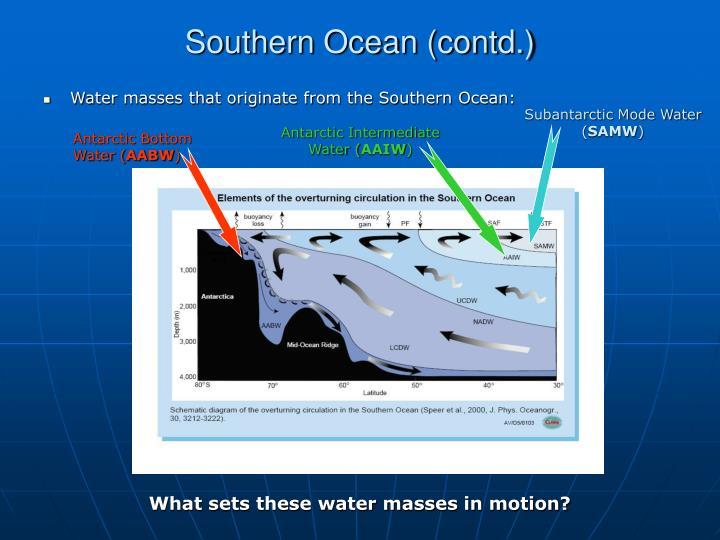 Southern Ocean (contd.)