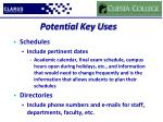 potential key uses