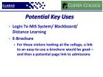 potential key uses3