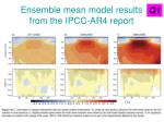 ensemble mean model results from the ipcc ar4 report