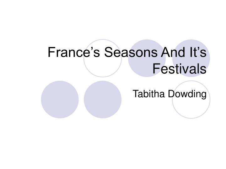france s seasons and it s festivals n.