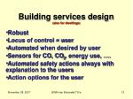 building services design also for dwellings