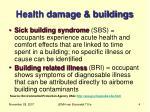 health damage buildings