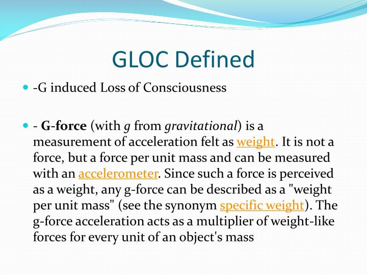 Gloc defined