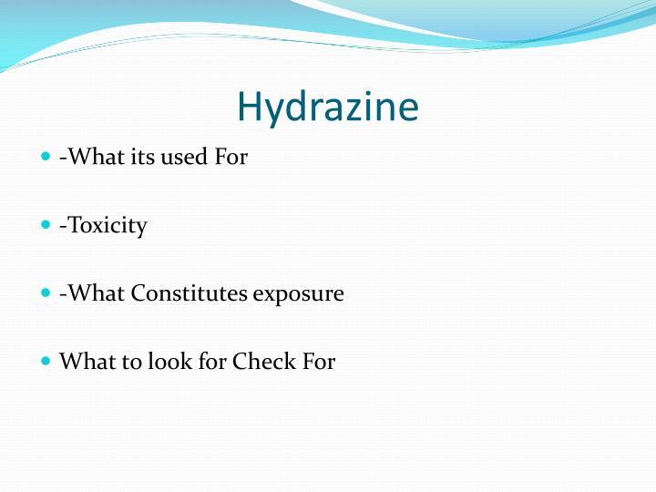 Hydrazine
