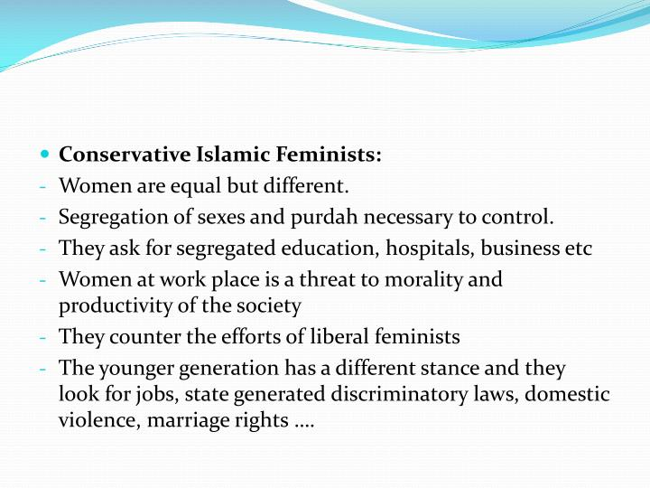 Conservative Islamic Feminists: