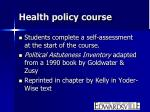 health policy course1