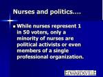 nurses and politics