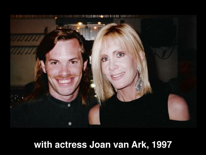 with actress Joan van Ark, 1997