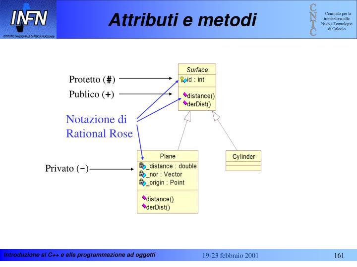 Attributi e metodi