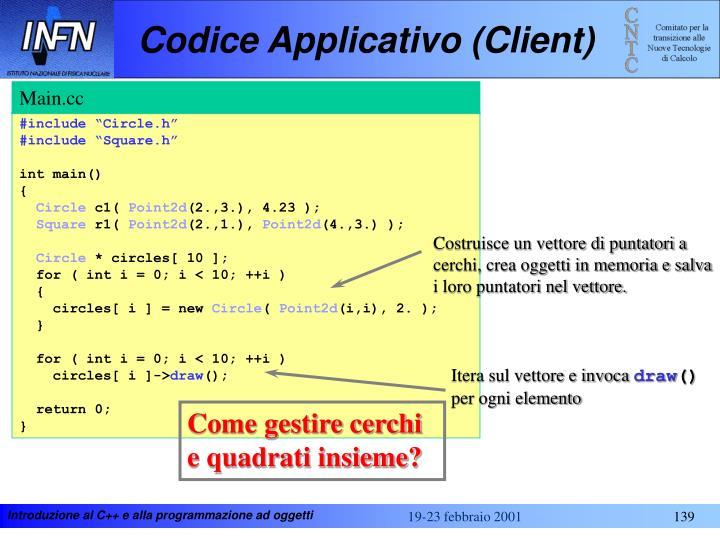 Codice Applicativo (Client)